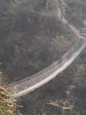 Hängebrücke in Nepal